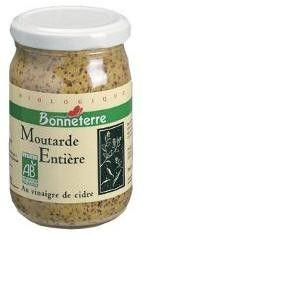 Bonneterre Moutarde à l'ancienne au vinaigre de cidre 200g