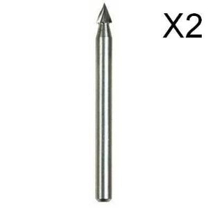 Dremel 118 - Fraise haute vitesse 3,2 mm (Lot de 2)