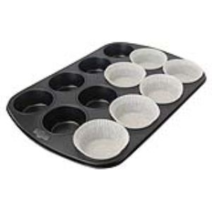 Image de De Buyer 4843.00 - Moule à 12 muffins anti-adhésif