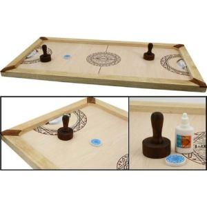 Carrom Art Shuffle Puck : Jeu de palets de table Mango (90 x 45 cm)