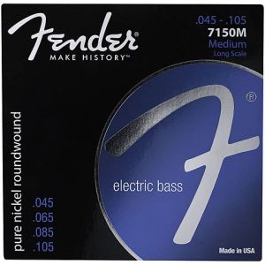 Fender 073-7150-406 - 7150M 45-105 Pure Nickel Roundwound - Jeu de cordes pour basse Long Scale