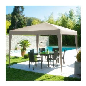 Hesperide Easy Up - Tente extérieure de réception carrée toile en polyester 3 x 3 x 2,40 m