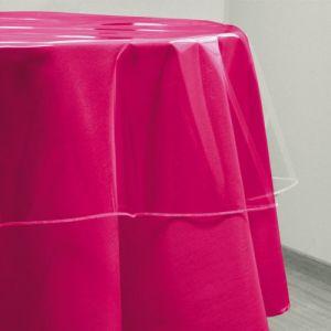 Protège-nappe ronde cristal (180 cm)
