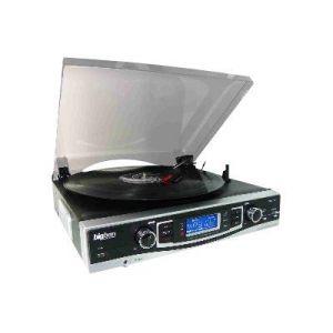 Bigben Interactive TD84 - Tourne-disque avec radio et lecteur de cartes SD