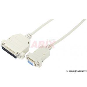 139300 - Adaptateur câble DB9/DB25 F/M 25 cm