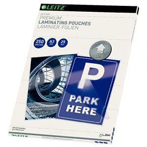 Leitz 25 pochettes de plastification 250 microns iLAM UDT A3
