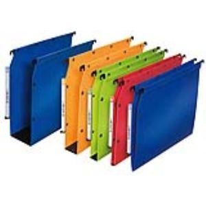 L'Oblique AZ Paquet de 10 dossiers suspendus en polypropylène pour armoire (dos : 80 mm)
