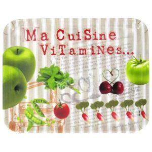 Fox Trot Plateau moyen Ma cuisine vitamines en mélamine décoré (21 x 27 cm)
