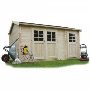 Solid S841 - Abri de jardin Passage en bois 28 mm 10,80 m2