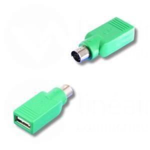 Lineaire AD611 - Adaptateur PS2 mâle / USB type A femelle