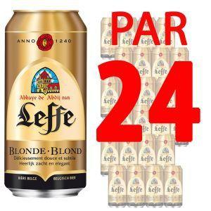 Leffe Abbaye - Bière blonde Belge (24 x 50 cl) 6.6°
