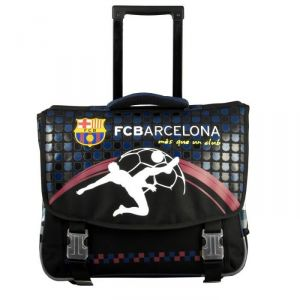 La Plume Dorée Cartable trolley Football FC Barcelone 41 cm