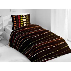 housse de couette 200x200 marron comparer 124 offres. Black Bedroom Furniture Sets. Home Design Ideas