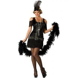 Déguisement Charleston robe noire femme premium