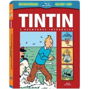 Coffret Tintin - Le Secret de la Licorne + Le Crabe aux pinces d'or + Le Trésor de Rackham le Rouge