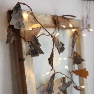 Xmas Living Glass Nature Tree - Guirlande sapins en bois LED (2m)