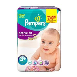 Pampers Active Fit taille 3+ midi+ (5-10 kg) - Value Bag x 45 couches