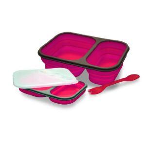 Baumalu Boîte repas avec 2 compartiments en silicone