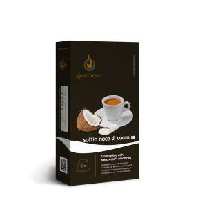 Gourmesso 10 capsules Soffio Noce di Cocco (Intensité 5) compatibles avec les machines Nespresso