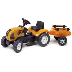 Falk Tracteur à pédales Renault Ares avec remorque
