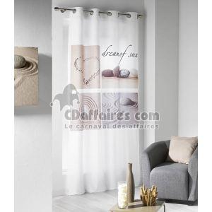 Rideau à oeillets imprimé Dune (140 x 240 cm)