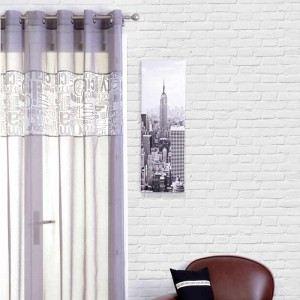 Voilage à oeillets New York (140 x 240 cm)