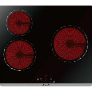 Brandt BPV 6320 B - Table de cuisson vitrocéramique 3 foyers