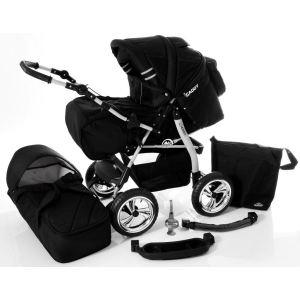 Lux4kids Icaddy - Poussette canne combinée 2 en 1 avec nacelle et sac shopper