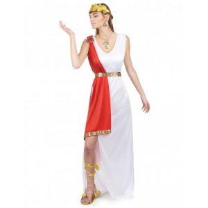 Déguisement déesse romaine robe longue femme