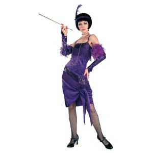 Déguisement charleston robe violette