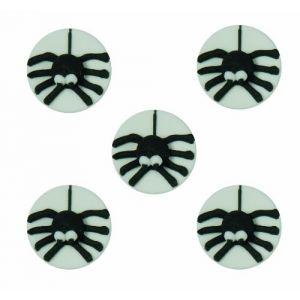 5 mini disques en sucre araignées Halloween