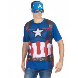 t shirt et masque adulte captain america movie 2
