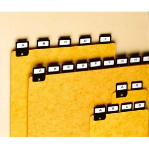 Valrex 25 Intercalaires avec onglet métallique (A7) en largeur