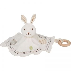 EverEarth EE33697 - Doudou lapin avec anneau en bois