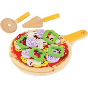Hape E3129 - Set pizza en bois et feutrine