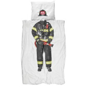 Snurk Pompier - Housse de couette et taie (140 x 200 cm)