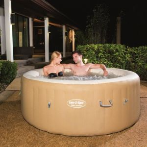 Bestway 54129 Lay-Z-Spa Palm Springs - Spa rond gonflable 4 à 6 personnes 963 L