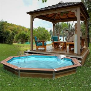 Piscines semi enterree comparer 94 offres for Piscine structure bois semi enterree