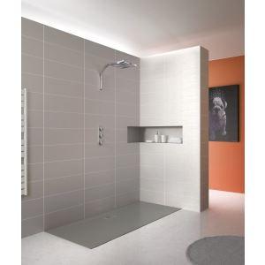 Kinedo douche Receveur ultra-plat à encastrer Kinesurf (80 x 120 cm)