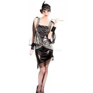 Chaks Déguisement robe Charleston noire 2 pièces