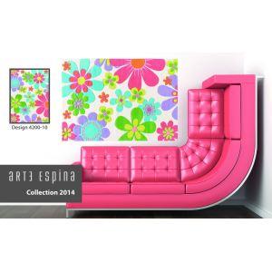 Arte Espina Tapis design Splash Flowers (140 x 200 cm)