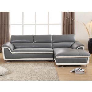 Canapé d'angle droit Merona en cuir