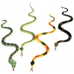 Serpents en plastique pour piñata