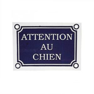 "Zolux Plaque ""Attention au chien"" (24 x 11 cm)"