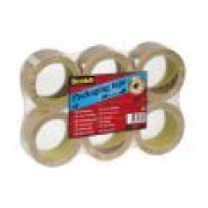 Scotch 6 rouleaux adhésifs d'emballage transparent (50 mm x 66 m)