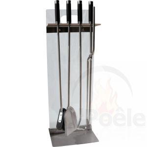 Delta Serviteur Mani en verre avec 4 accessoires pour cheminée