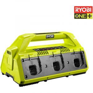 Ryobi RC18627 - Chargeur de batterie 6 ports 18V OnePlus Lithium-ion