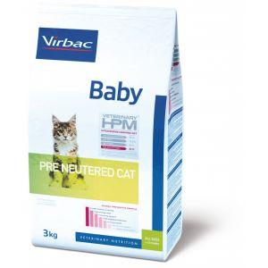 Virbac Veterinary HPM Baby Pre Neutered - Croquettes pour chaton 3 kg