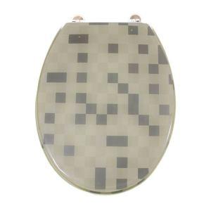 Gilac Abattant de toilette lunette WC Thermodur charnières inox siège WC standard