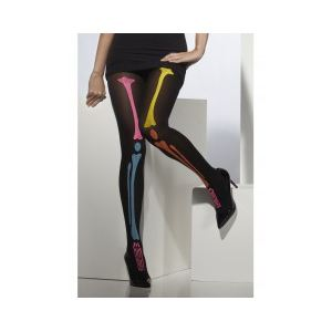 Smiffy's Collants squelette fluo